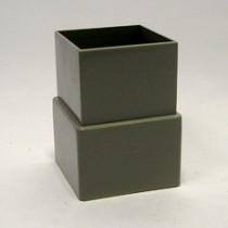 Hwa  mof  80x80  vierkant  grijs
