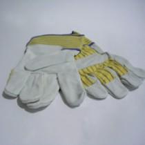Paar handschoenen rundsplitleder gevoerd