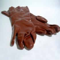 Paar pvc handschoenen 35 cm chem.best.
