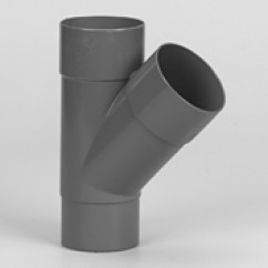 Lijm t-stuk mof/spie 45°