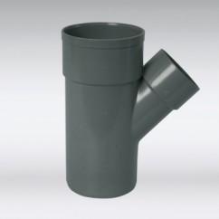 T-stuk mof / spie 45° lijm