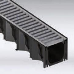 Hexaline goot inclusief verzinkt staal rooster