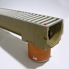 Aco gootelement met  RVS sleufrooster