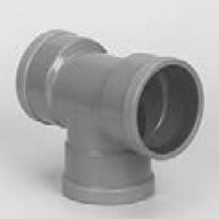 T-stuk 90˚ 3 x mof sn4 rubber