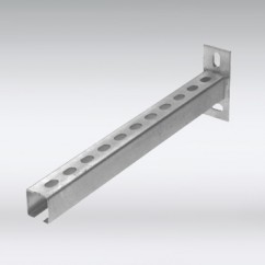 RVS Rail wandconsole 30x15mm l=200mm