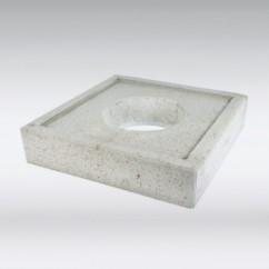 Gewapend beton druk-verdeelplaat