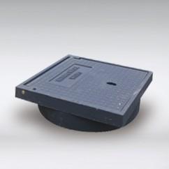 Gietijzer  bovendeel  315  mm  dicht