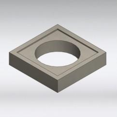 Gewapend beton drukverdeelplaat 425 mm