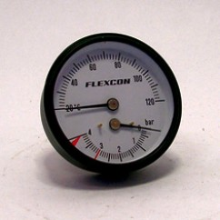 Flamco  thermometer/manometer  1/2