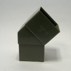 Hwa  bocht  80x45  vierkant  grijs