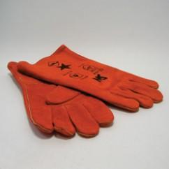 Paar  handschoenen  gevoerd  vlamdovend