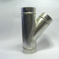 Spiro T-stuk 45°
