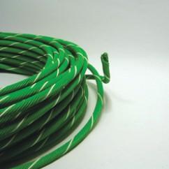 Mtr  coax-12  kabel  groen  onbewapend