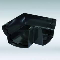 Nicoll buiten / binnenhoek mastgoot 115 mm antraciet