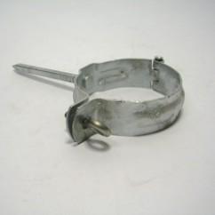Zinken  afvoerbeugel  met  pen  80  mm