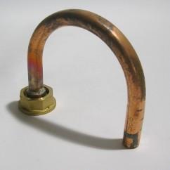 Gasmeter koperbocht  15 mm 180 gr