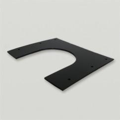 Ubbink set dakbeschotplaten zwart
