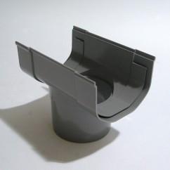 Gootuitloop  slon  65  mm  grijs