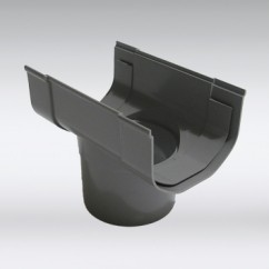 Gootuitloop S-lon 65 mm grijs