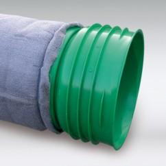 IT-riool, geperforeerd, voorzien van geotextiel, kleur groen