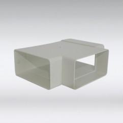 Platte T stuk 110x54 mm wit