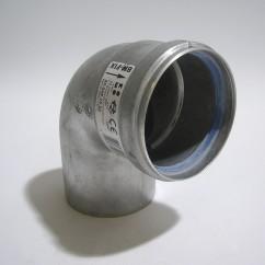Dikwandig aluminium bocht 80x90º