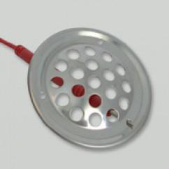 Rvs  ventilatierooster  52  mm  rond