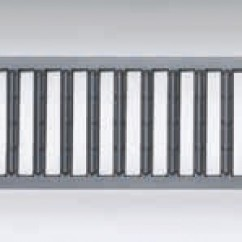 Self Euroline losse sleufrooster verzinkt staal antraciet