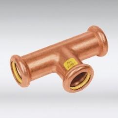 Bonfix press T-stuk koper/gastec