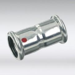 Bonfix press rechte koppeling staal