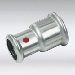 Bonfix press verloopkoppeling staal