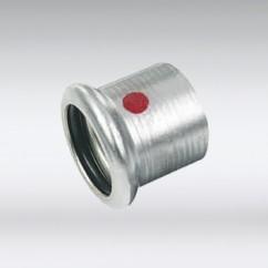 Bonfix press eindkoppeling staal verzinkt