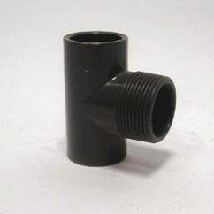 PVC T-stuk buitendraad ND 16